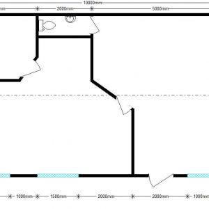 модульный жилой дом 10х6 м