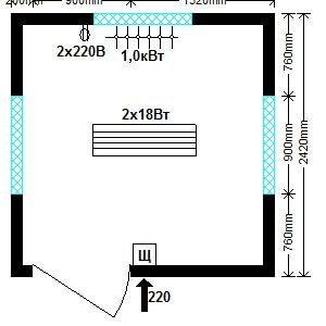 пост охраны 2,4х2,4 м