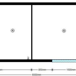 техно 6,00х2,42 м с двумя помещениями