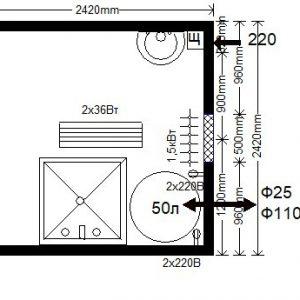 модульная душевая 2,4х2,4 м