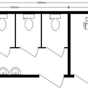 модлульный туалет 6,0х2,4 автономный