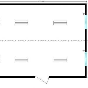 модульная котельная 6,0х4,8 м, 4 окна