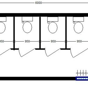 модульный туалет 6,0х2,4 м