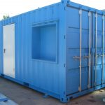 Marine reinforced container for equipment