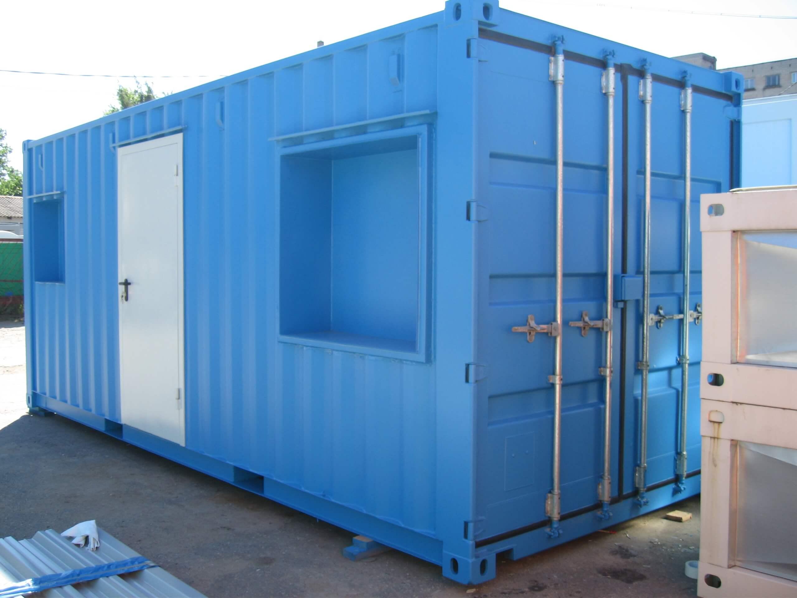 морской контейнер с отделкой