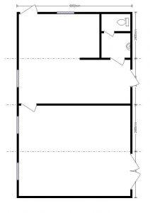 модульная столовая 9,6х6,0 м