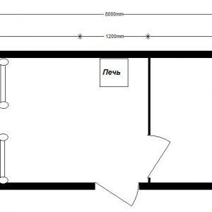 дачный домик 8,0х2,4 м