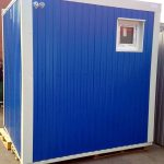Delivery of a compact toilet module