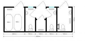 Планировка модульного туалета для мгн