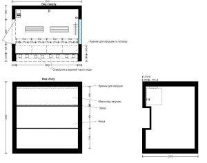 планировка технического блок-контейнера