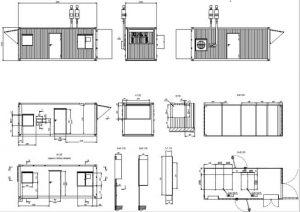 планировка технического морского контейнера