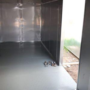 технический блок-контейнер изнутри