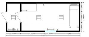 планировка жилого блок-контейнера