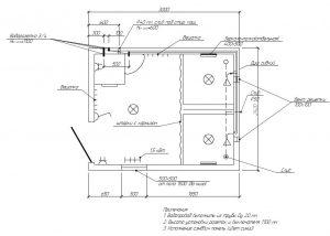 схема душевого блок-контейнера