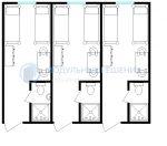 Модульное Общежитие на 6-12 человек с индивидуальными туалетами из 3х модулей 7,26х6,00 43,56м2