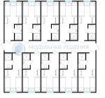 Модульное здание под ключ жилое на 20-40 человек с индивидуальными туалетами из 5 12-м модулей 12,10х12,00 145м2